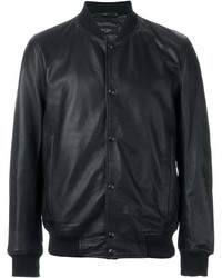 Paul Smith Jeans Leather Bomber Jacket