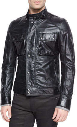 97c410b6e $1,895, Belstaff Racemaster Leather Jacket Black