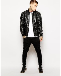 Religion Leather Bomber Jacket | Where to buy &amp how to wear