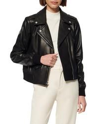 Marc New York Sandino Leather Bomber Jacket