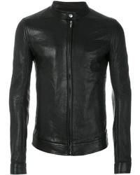 Rick Owens Slim Fit Leather Jacket