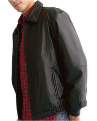 St Johns Bay St Johns Bay Leather Bomber Jacket