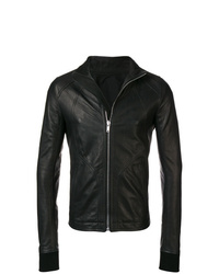 Rick Owens Stand Up Collar Biker Jacket