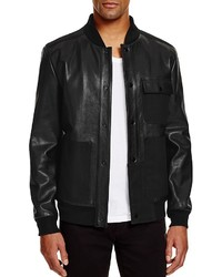 Alexander Wang T By Leather And Canvas Bomber Jacket