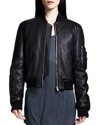 Alexander Wang T By Reversible Pebbled Bomber Jacket