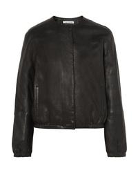 Elizabeth and James Tinley Textured Leather Bomber Jacket