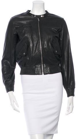 01a9fa4e1 $355, Etoile Isabel Marant Toile Isabel Marant Leather Bomber Jacket