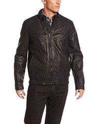 Tommy Hilfiger Faux Leather Latch Collar Bomber Jacket