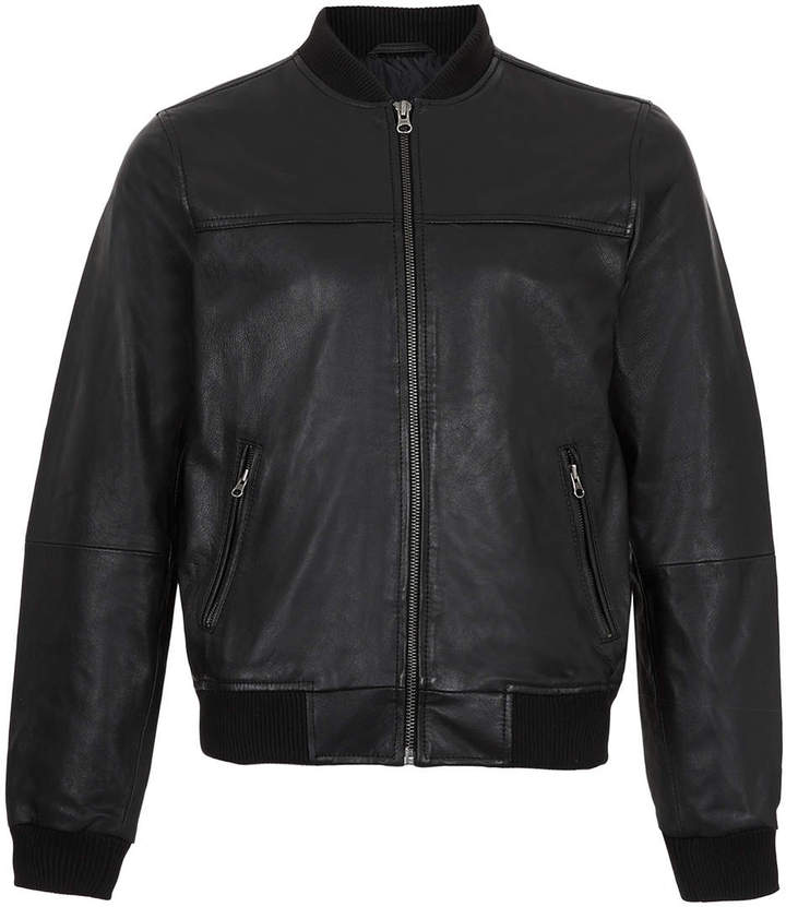 Topman Black Leather Bomber Jacket | Where to buy &amp how to wear