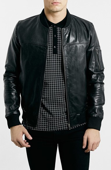 Topman Leather Ma 1 Bomber Jacket | Where to buy &amp how to wear
