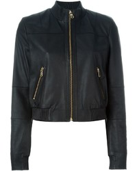 Twin-Set Leather Bomber Jacket