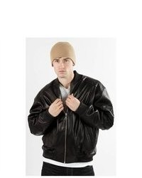 United Face Famous Black Leather 8 Ball Bomber Jacket