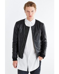 Urban Outfitters Your Neighbors Jonas Leather Bomber Jacket