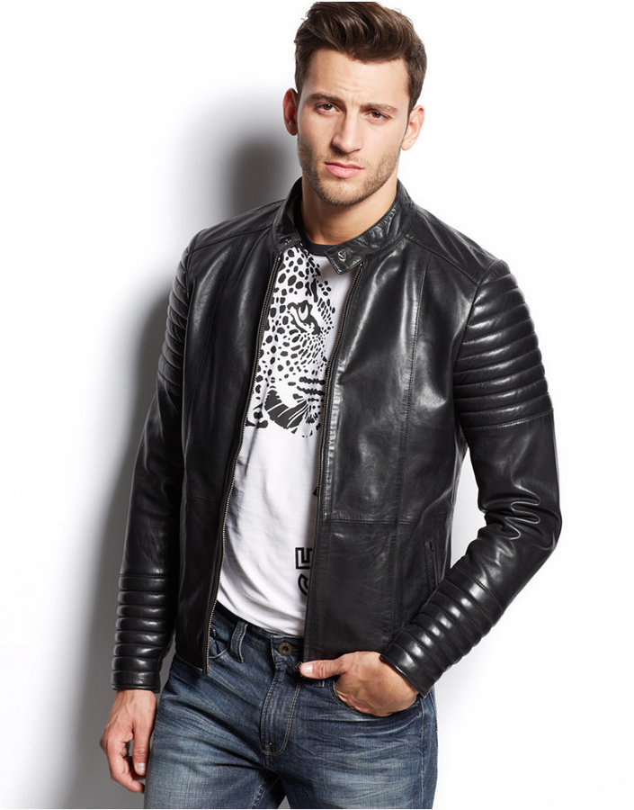 Versace Jeans Leather Moto Jacket | Where to buy & how to wear