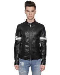 Dolce & Gabbana Vintage Effect Nappa Leather Jacket