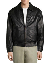 Vintage Leather Vintage Leather Lambskin Bomber Jkt Leather Bomber Jacket