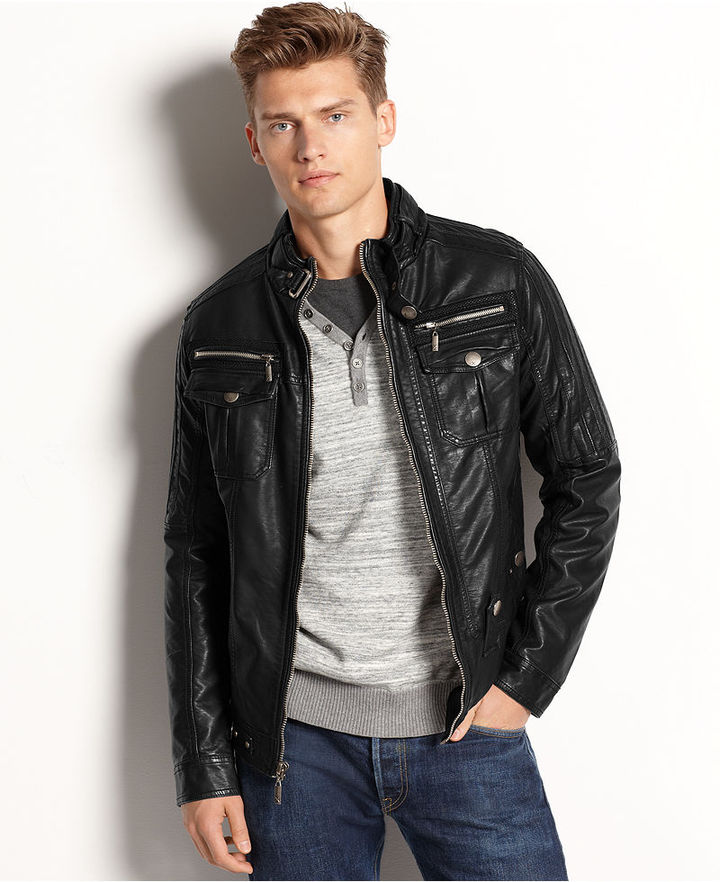 5ff210c37 $128, X Ray Jacket Faux Leather Bomber Jacket