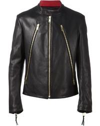 Zip detail biker jacket medium 326642