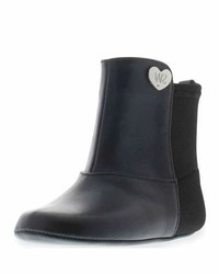 Stuart Weitzman 5050 Faux Leather Neoprene Boot Black Infant
