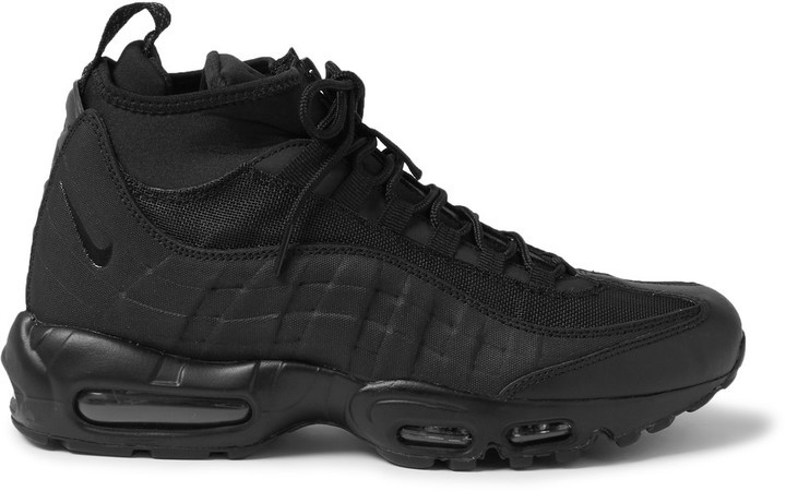 ... Nike Air Max 95 Leather Canvas And Mesh Sneakerboots ... 92bc2137060f