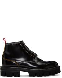 Carven Black Contrast Stitch Boots