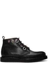 Carven Black Eyelet Boots
