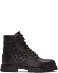 Valentino Black Garavani Rockstud Combat Boots