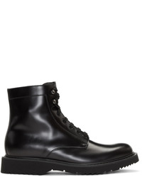 Prada Black Lace Up Boots