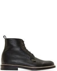Carven Black Leather Minimal Boots