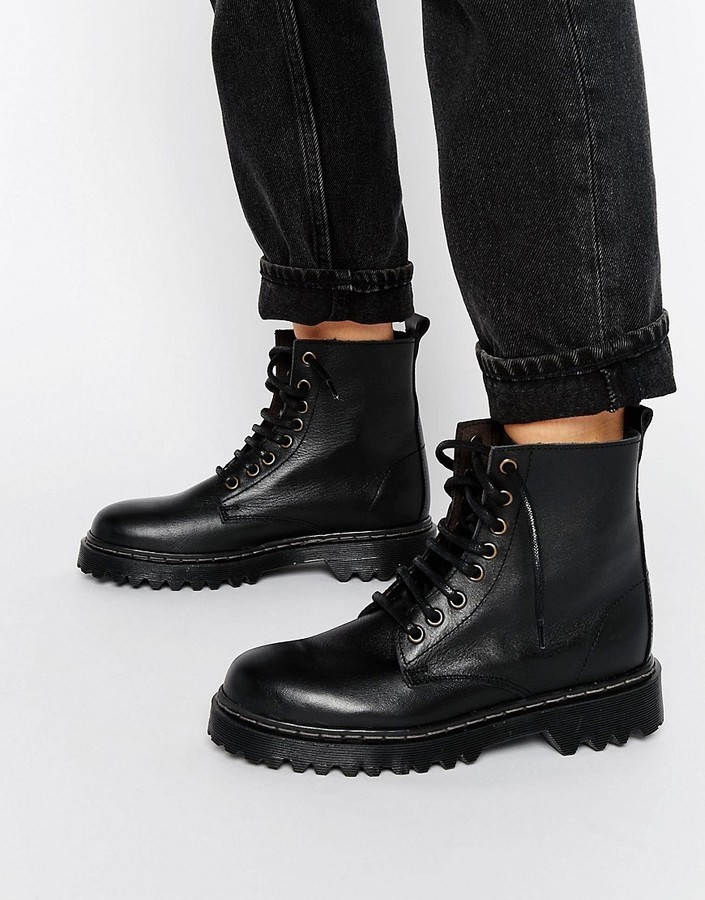 Park Lane Chunky Sole Lace Up Boot