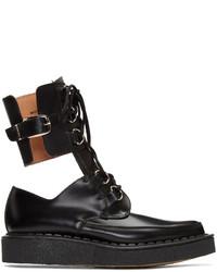 Comme des Garcons Comme Des Garons Homme Plus Black Buckles Cut Out Boots