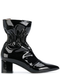 MSGM Elasticated Effect Varnished Boots