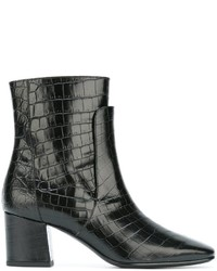 Givenchy Embossed Crocodile Effect Boots