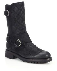 Ralph Lauren Grover Quilted Leather Boots