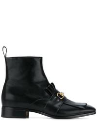 Gucci Fringed Horsebit Boots
