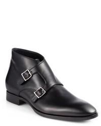Ralph Lauren Guilford Double Monk Strap Boots