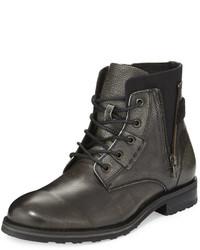 Joe's Jeans Joes Frank Side Zip Leather Boot Black