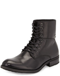 Joe's Jeans Jordy Leather Lace Up Boot Black