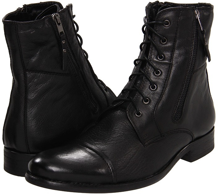 how to clean black leather boots