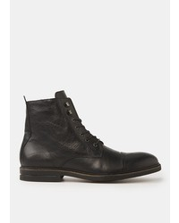 Mango Lace Up Leather Boots