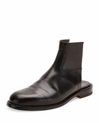 Leather cutout boot sandal black medium 925557