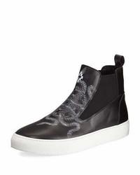Marcelo Burlon County of Milan Marcelo Burlon Essie Snake Print Sneaker Boot Black