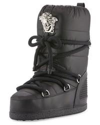 Versace Medusa Quilted Astronaut Boot Black