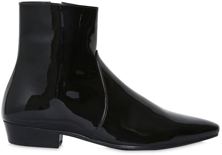 Deals Cheap Price Really Cheap Saint Laurent Patent Leather Ankle Boots Excellent Discount Best Seller 63KLh