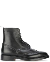 Thom Browne Perforated Detailing Military Boots