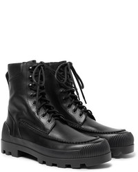Acne Studios Tobias Rubber Trimmed Leather Boots