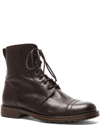 Belstaff Waxed Leather Dalwood Boots