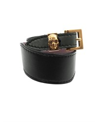 Alexander McQueen Bi Colour Leather Wrap Bracelet