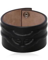 Alexander McQueen Rib Cage Leather Bracelet