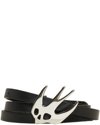 MCQ Alexander Ueen Black Swallow Triple Wrap Bracelet